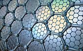 Molecular structure of graphene, illustration