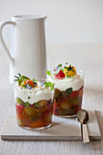 Vegetable confit with goat's cream cheese