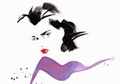 Beautiful woman, illustration