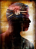 Dementia, conceptual illustration