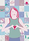 Heart health, illustration