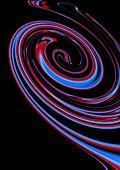 Abstract dark spiral pattern, illustration