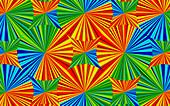 Abstract bright colour kaleidoscope pattern, illustration
