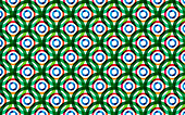 Abstract overlapping circles pattern, illustration