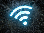 Wifi symbol, illustration