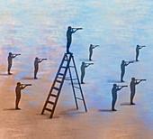 Advantage, conceptual illustration
