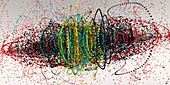 Beads, abstract illustration