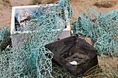 Discarded fishing gear