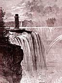 Niagara Falls in winter, 19th century