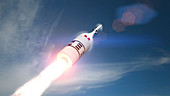 Orion spacecraft being launched, illustration