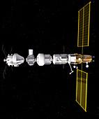 Lunar Orbital Platform-Gateway space station, illustration