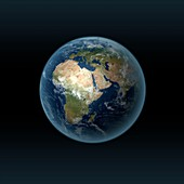 Earth's location in the universe, illustration