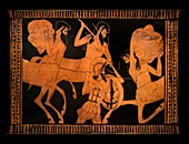 Lapiths and Centaurs in battle.