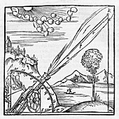 Missile trajectory, 16th century