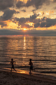 Sunset over Lake Michigan, USA