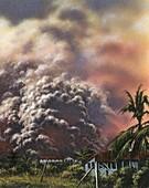 Pyroclastic flow, illustration