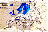European glaciation, 19th-century illustration