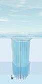 IceCube Neutrino Observatory, illustration