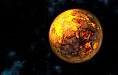 Protoplanetary Earth, illustration
