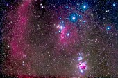 Belt and sword of Orion with Barnard's Loop