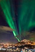 Aurora over Skjervoy, Norway