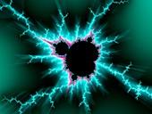 Mandelbrot fractal, molecular model