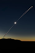 Total solar eclipse of 2 July 2019, time-lapse image