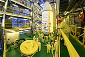CHEOPS exoplanet-observing satellite at launch pad