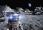 Moon base, illustration