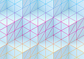 Cube pattern, illustration