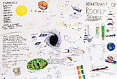 Astronomy and space exploration drawings