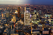Day to night image of the city of London, UK
