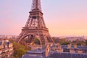 Eiffel Tower, Paris, France, at dawn