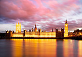 Houses of Parliament, London, UK, at dusk