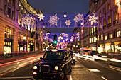 Regent Street, London, UK, at Christmas
