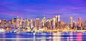 New York City, USA, at dusk