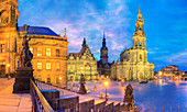 Dresden, Germany, at dusk