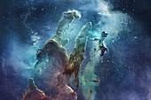 Eagle nebula, illustration