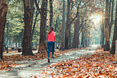 Woman jogging in a park