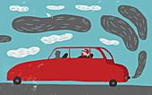 Air pollution,conceptual illustration