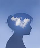Airhead,conceptual illustration