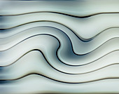 Abstract smooth wave pattern,illustration