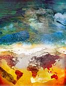 Global plastic pollution,illustration