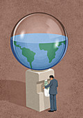 Draining global resources,conceptual illustration