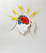 Headache,conceptual image