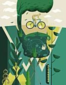 Environmentalist,conceptual illustration
