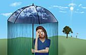 Depression,conceptual illustration