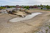 Stormwater retention pond construction