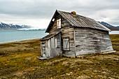 Remote whaling hut,Spitsbergen,Svalbard,Norway