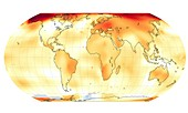 Global temperature anomalies,2019